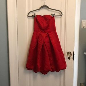 Strapless Party Dress with Bubble Skirt